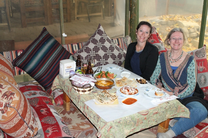 Traditional restaurants in the region have you sitting on pillows and carpets, and they keep bringing the food!