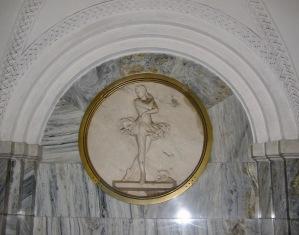 Ballerina at Moscow metro Park Culturi