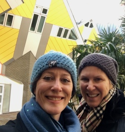 Amazing architecture and Rotterdam go together, just like Aiyana and Christine