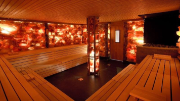 This is one of our favorite saunas at Elysium