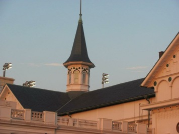 The spires at Churchill Downs are iconic