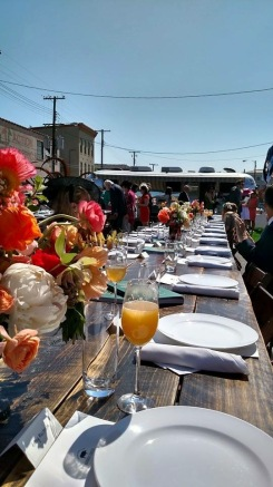 Brunches abound, and sometimes they close the streets and roll out the turf