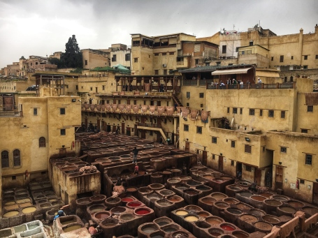 Fes is famous for its medieval tanneries