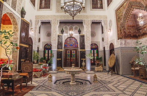 The entrance to Riad Fes Maya is simply stunning