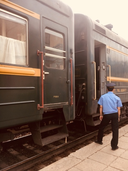 The Trans-Mongolian train carried us across the steppes into Russia